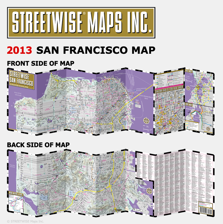 san-francisco-map used by custom private tour of San Francisco