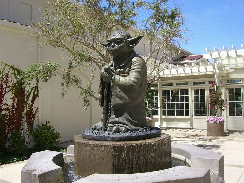 yoda as seen on the custom private tour of San Francisco's Presideo